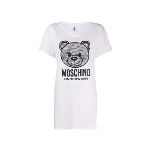 Moschino Underwear Teddy Logo Print Nightie