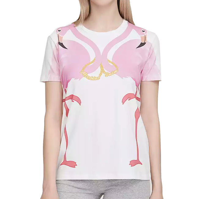 Moschino Swim Flamingo Logo T-Shirt