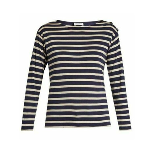 Saint Laurent Striped Cotton Top