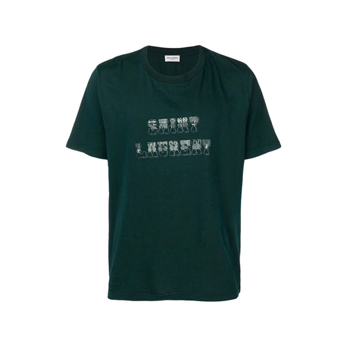 Saint Laurent Logo Cotton T-Shirt