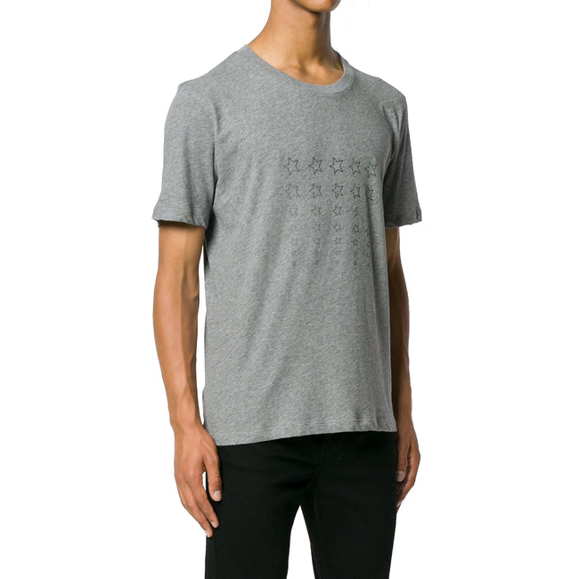 Saint Laurent Star-Print Cotton T-Shirt