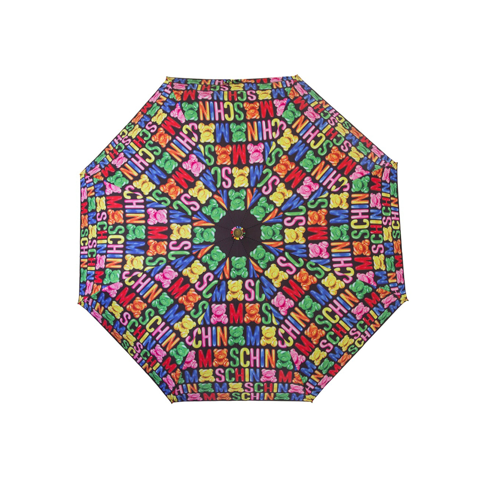 Moschino All Over Logo Print Umbrella