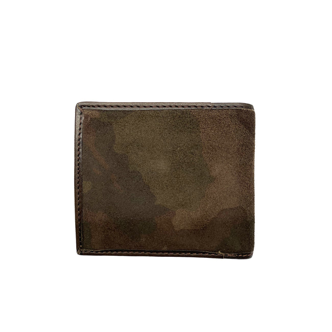 Armani Jeans Camouflage Suede Wallet