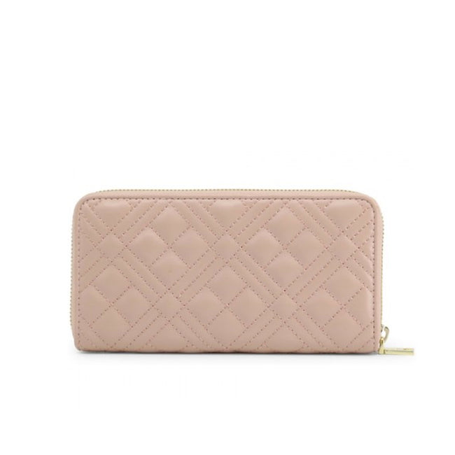 Love Moschino Quilted Logo Plaque Wallet