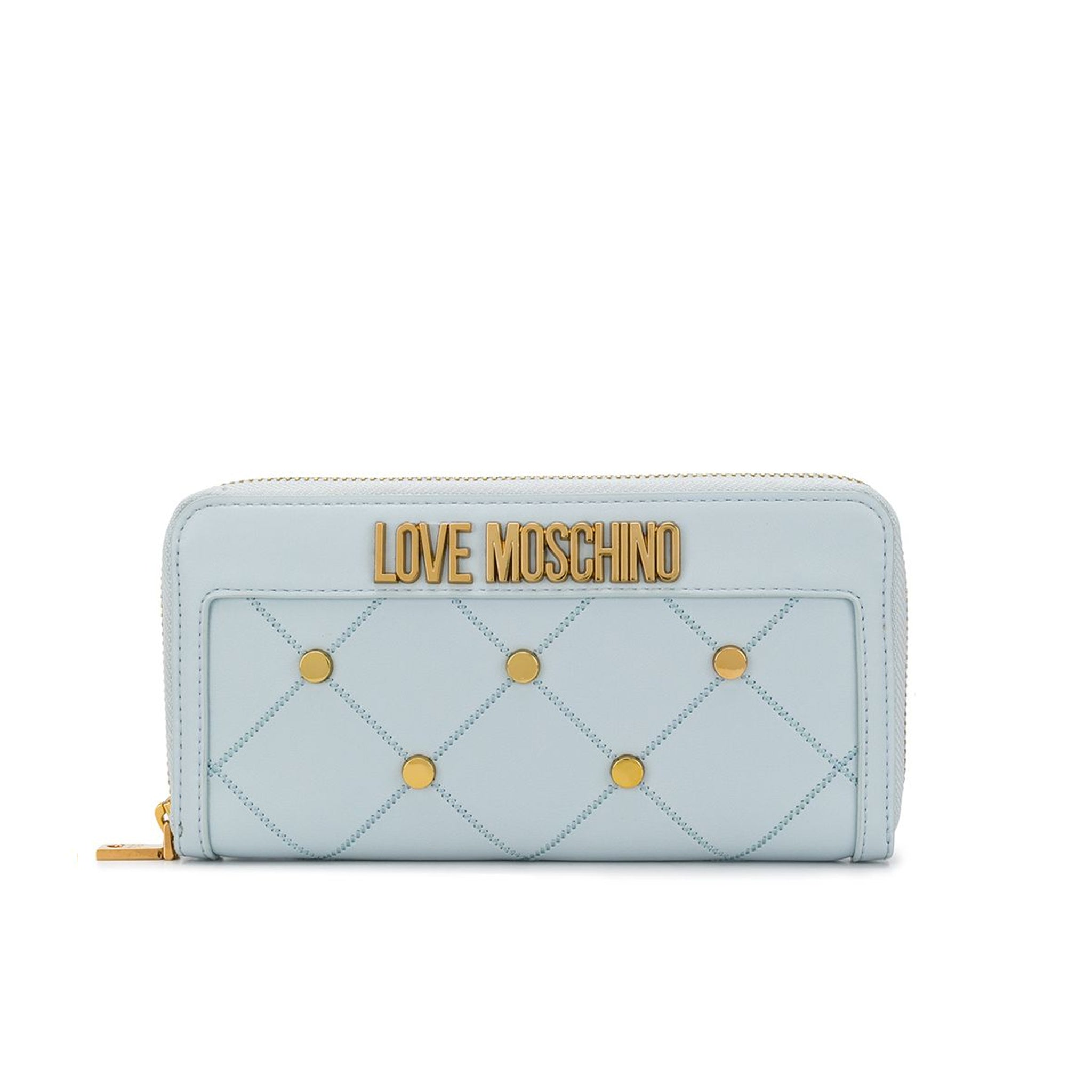 Love Moschino Stud-Embellished Logo Wallet