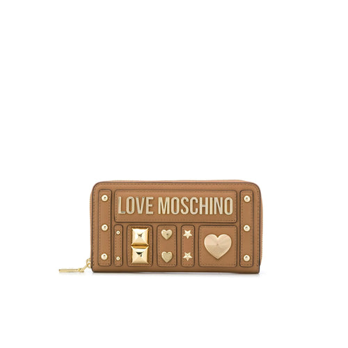Love Moschino Leather Studded Wallet