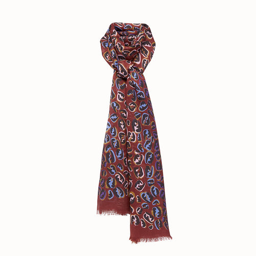 Burgundy Maxi Stole-FENDI-SHOPATVOI.COM - Luxury Fashion Designer