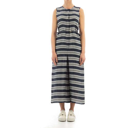 Striped Linen Jumpsuit-MAX MARA STUDIO-SHOPATVOI.COM - Luxury Fashion Designer