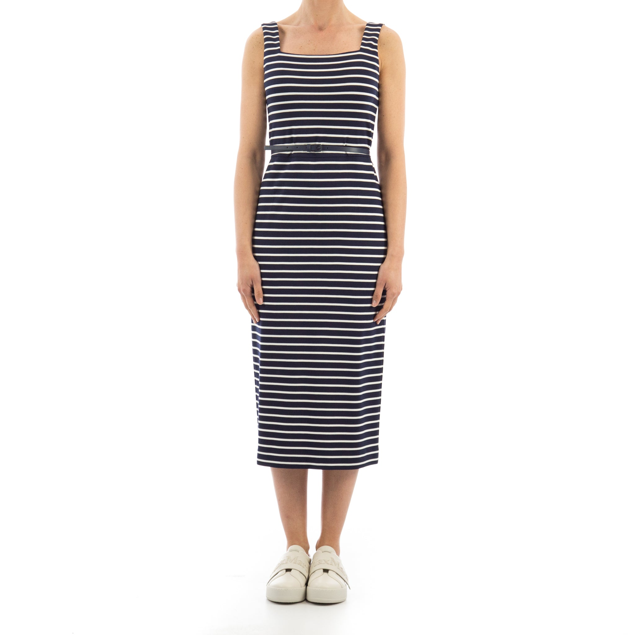 0182a9d4a4ec9 Max Mara Studio Striped Jersey Dress-MAX MARA STUDIO-SHOPATVOI.COM - Luxury