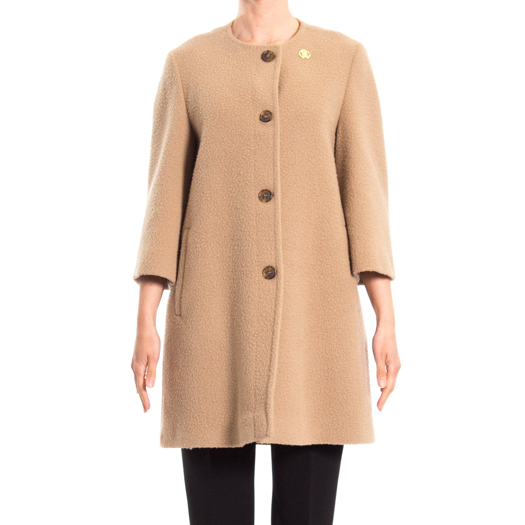 Wool Blend Coat-ROBERTO CAVALLI-SHOPATVOI.COM - Luxury Fashion Designer