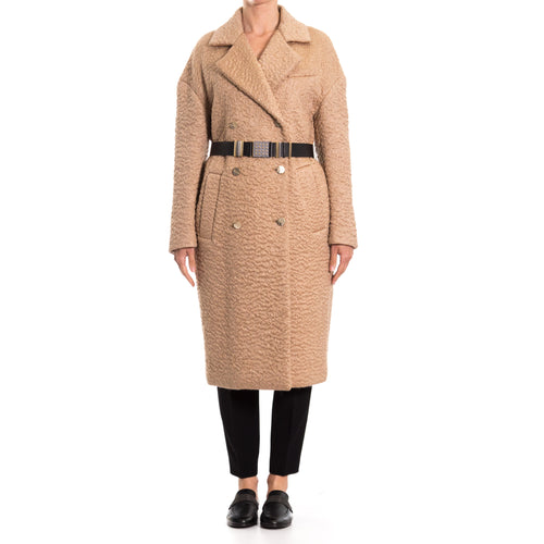 Mohair-Wool Blend Coat-VERSACE COLLECTION-SHOPATVOI.COM - Luxury Fashion Designer