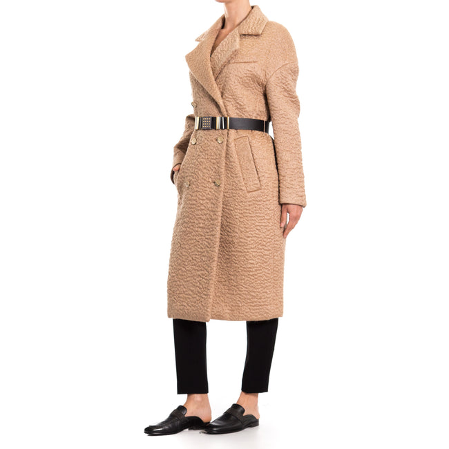 Versace Collection Mohair-Wool Blend Coat-VERSACE COLLECTION-SHOPATVOI.COM - Luxury Fashion Designer