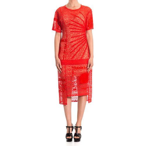 Lace Midi Dress-STELLA MCCARTNEY-SHOPATVOI.COM - Luxury Fashion Designer