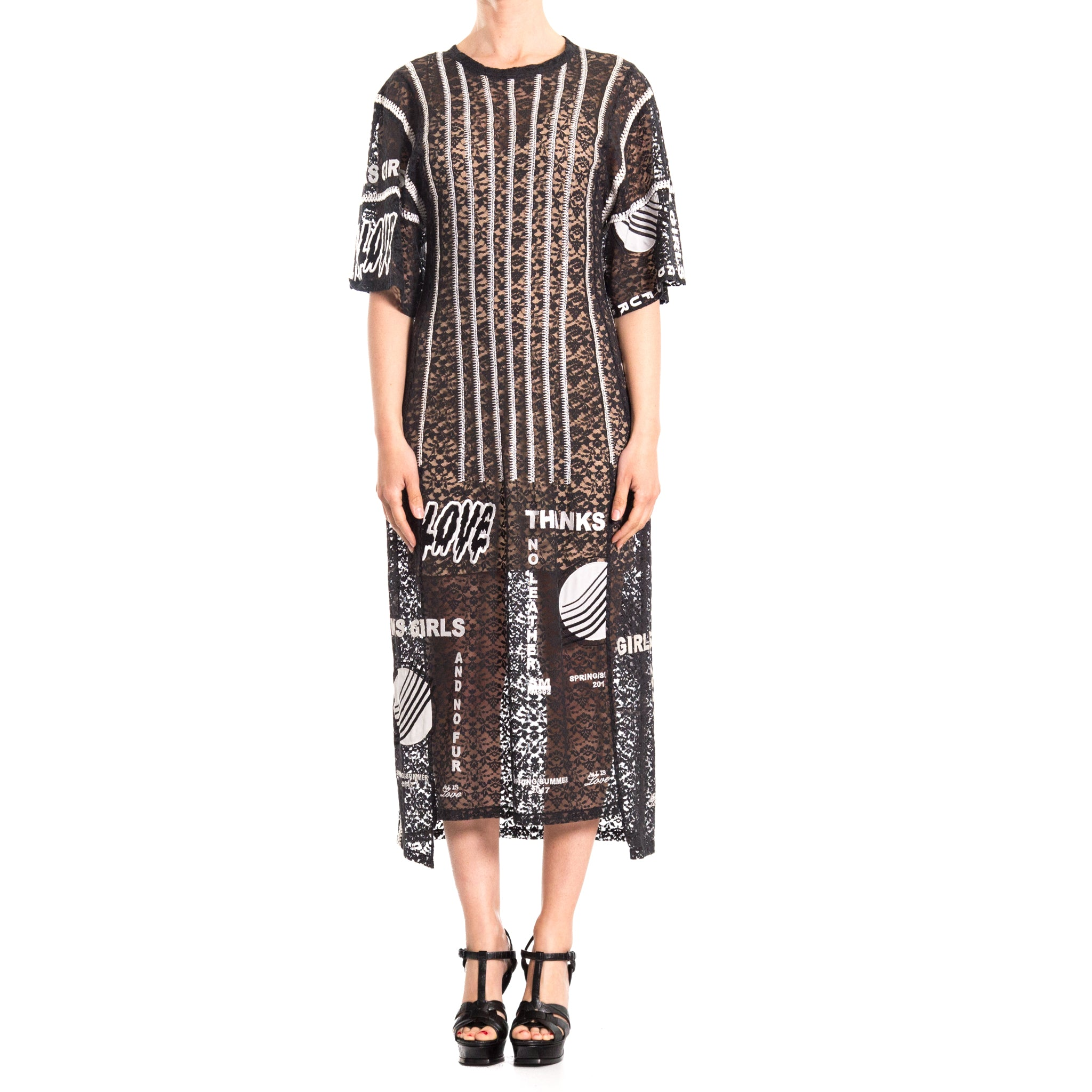 Lace Embroidered Long Dress-STELLA MCCARTNEY-SHOPATVOI.COM - Luxury Fashion Designer
