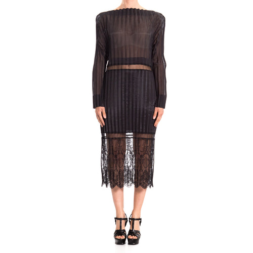 Plissè Cotton Blend Dress-STELLA MCCARTNEY-SHOPATVOI.COM - Luxury Fashion Designer