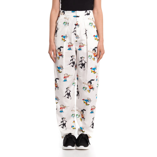 Printed Cotton Pants-STELLA MCCARTNEY-SHOPATVOI.COM - Luxury Fashion Designer