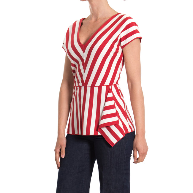 Striped Flared Top-MAX MARA STUDIO-SHOPATVOI.COM - Luxury Fashion Designer