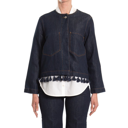 Max Mara Weekend Denim Jacket-MAX MARA WEEKEND-SHOPATVOI.COM - Luxury Fashion Designer