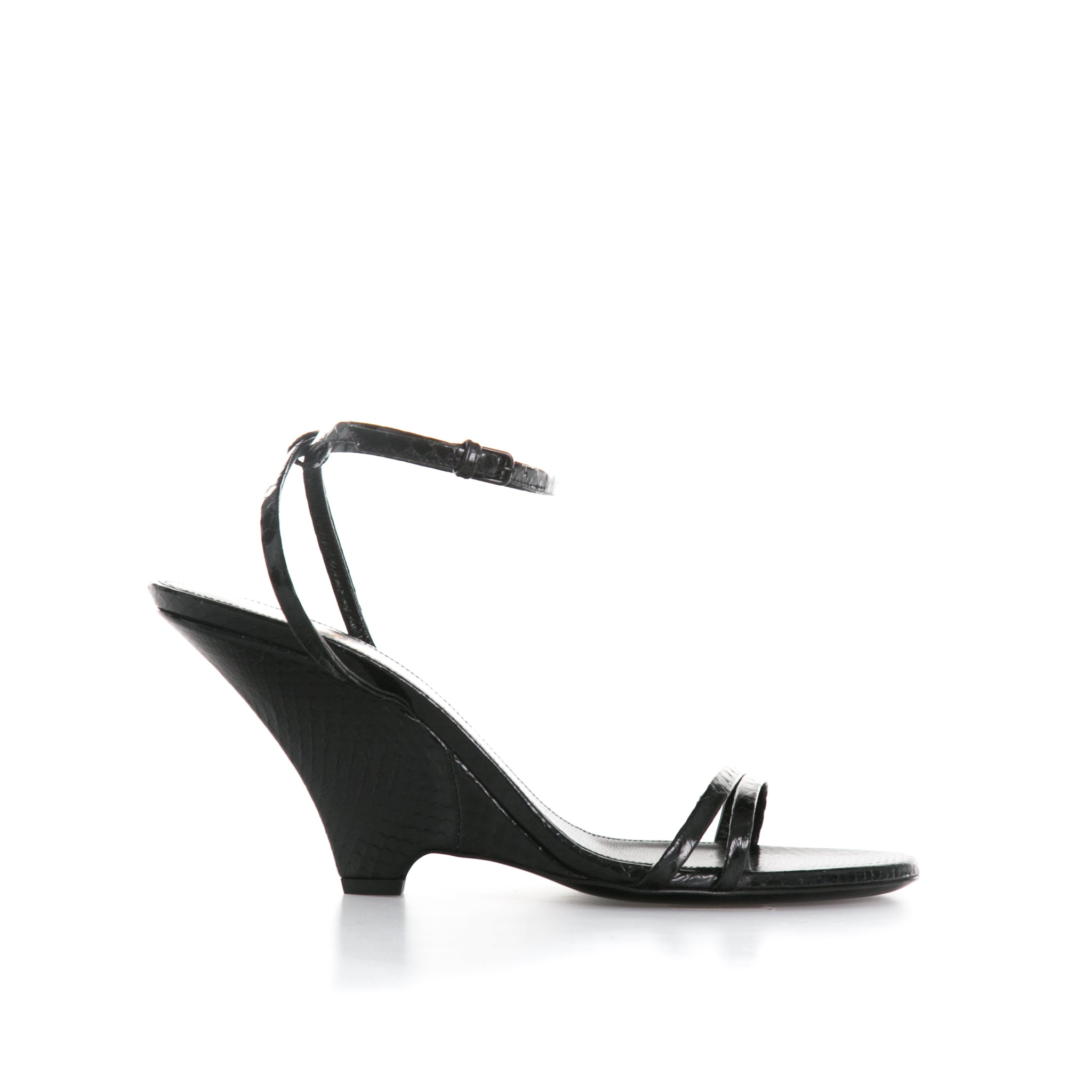 Python Leather Sandals-YVES SAINT LAURENT-SHOPATVOI.COM - Luxury Fashion Designer
