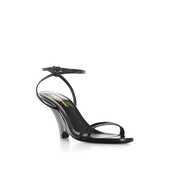 Yves Saint Laurent Python Leather Sandals-YVES SAINT LAURENT-SHOPATVOI.COM - Luxury Fashion Designer