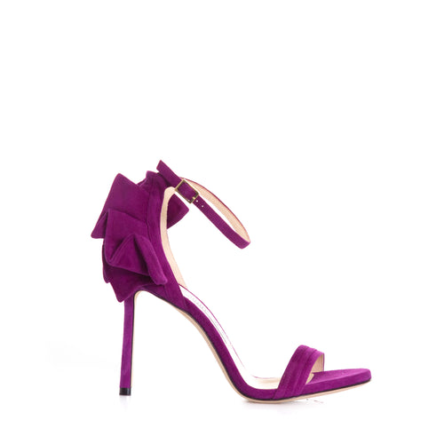Jimmy Choo Suede Heel Sandals-JIMMY CHOO-SHOPATVOI.COM - Luxury Fashion Designer