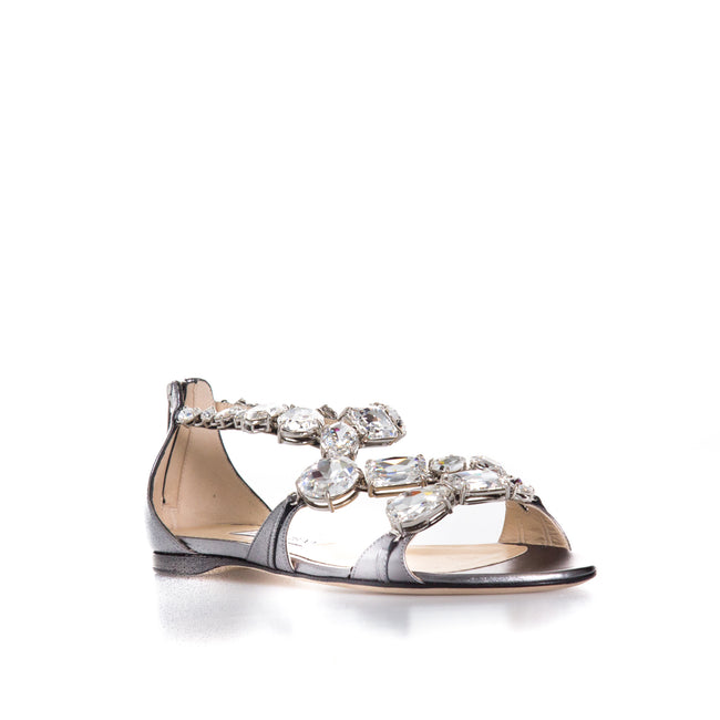 Jimmy Choo Karima Crystal Sandals-JIMMY CHOO-SHOPATVOI.COM - Luxury Fashion Designer