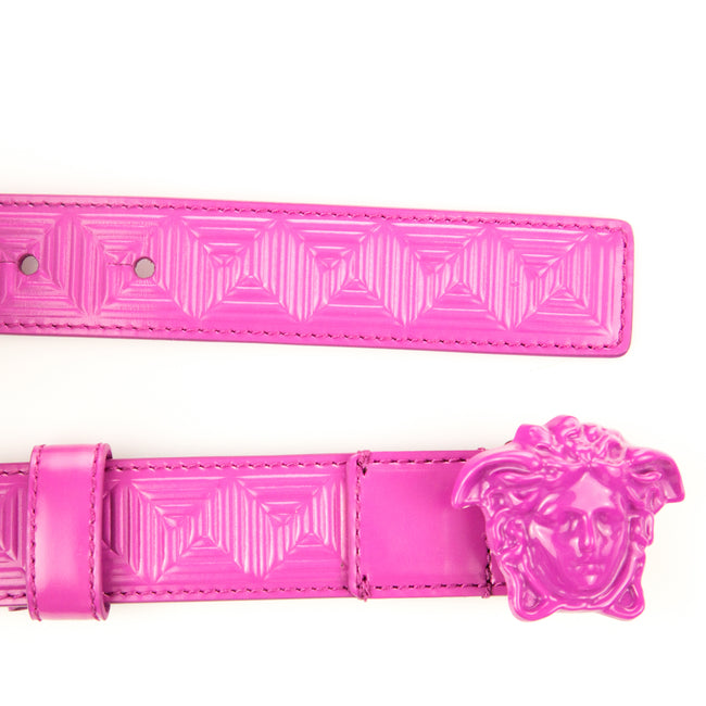 Versace Logo Buckle Leather Belt-VERSACE-SHOPATVOI.COM - Luxury Fashion Designer