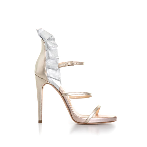 Ballin Laminated Leather Heel Sandals-BALLIN-SHOPATVOI.COM - Luxury Fashion Designer