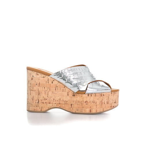 Croc Embossed Leather Wedges-BALLIN-SHOPATVOI.COM - Luxury Fashion Designer