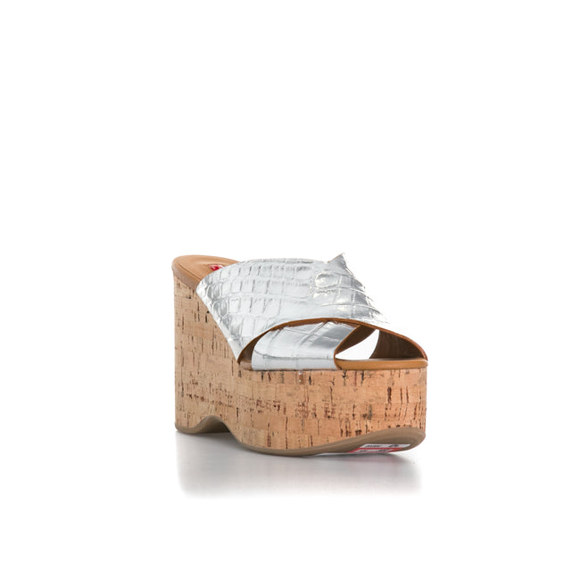 Ballin Croc Embossed Leather Wedges-BALLIN-SHOPATVOI.COM - Luxury Fashion Designer