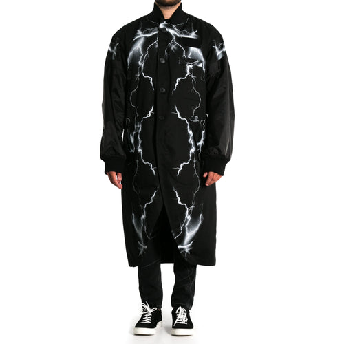 Printed Cotton Long Coat-MARCELO BURLON COUNTY OF MILAN-SHOPATVOI.COM - Luxury Fashion Designer