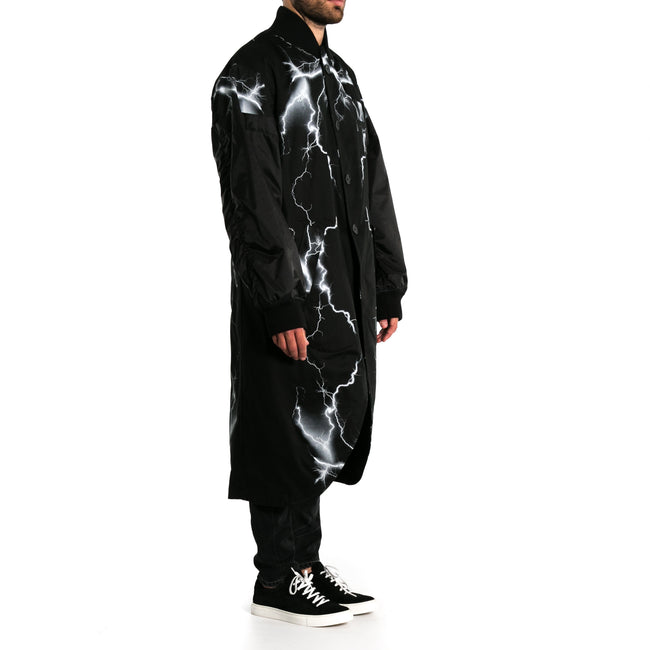 Marcelo Burlon County Of Milan Printed Cotton Long Coat-MARCELO BURLON COUNTY OF MILAN-SHOPATVOI.COM - Luxury Fashion Designer