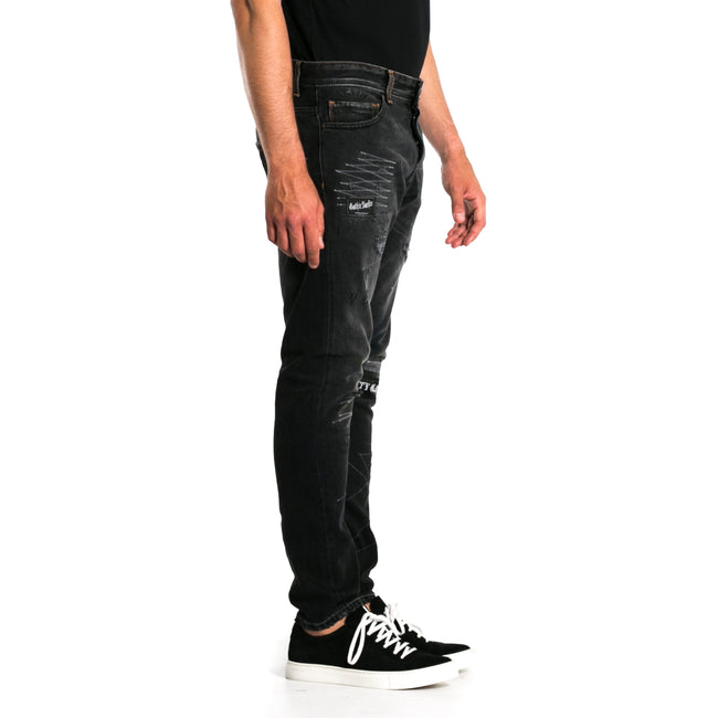 Embroidered Denim Jeans-MARCELO BURLON COUNTY OF MILAN-SHOPATVOI.COM - Luxury Fashion Designer