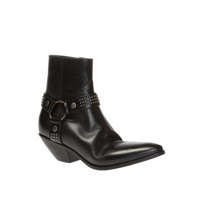 Saint Laurent West Leather Ankle Boots