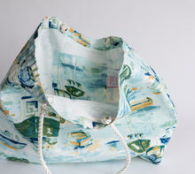 Rope Tote - Water Color Boats