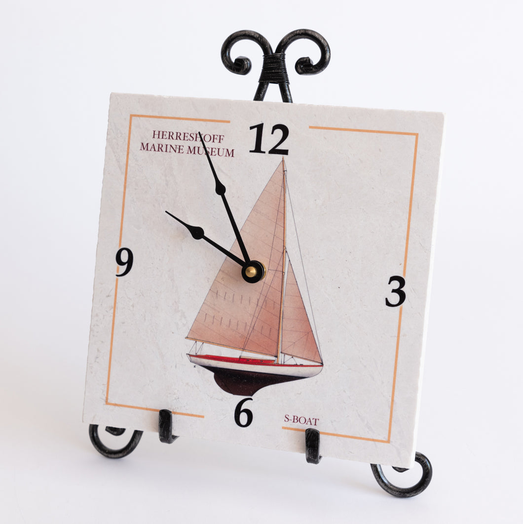 S-Boat Marble Clock