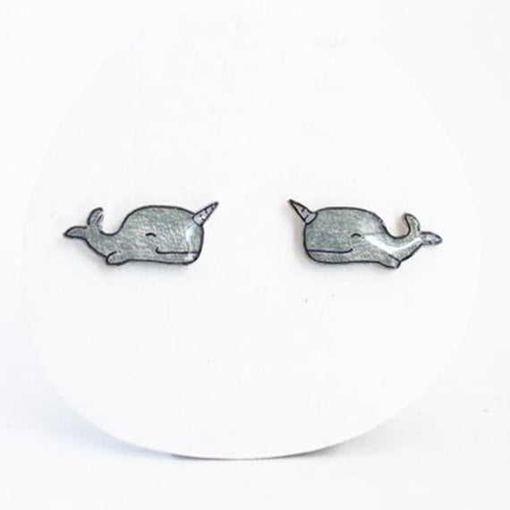 Happy Narwhal Earrings