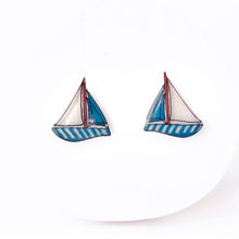 Sail Boat Earrings