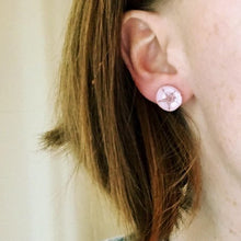 Pink Sand Dollar Earrings