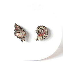 Seashell Asymmetrical Earrings