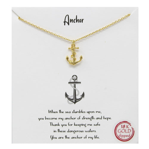 Whimsy - Anchor Pendant Necklace