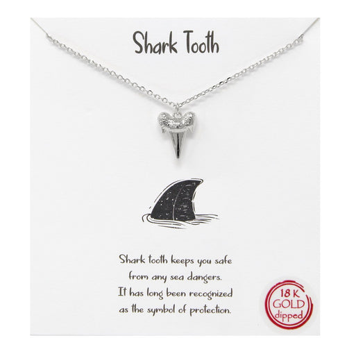 Whimsy - Shark Tooth Pendant Necklace