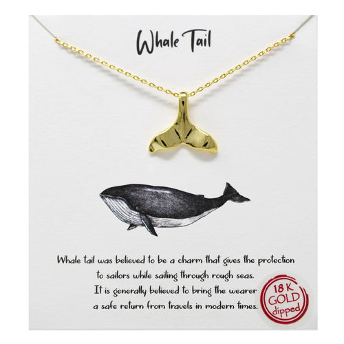 Whimsy - Whale Tail Pendant Necklace