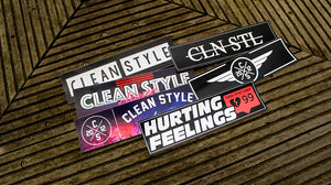 Clean Style Slap Stickers