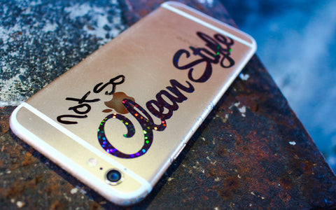 Clean Style Phone Sticker