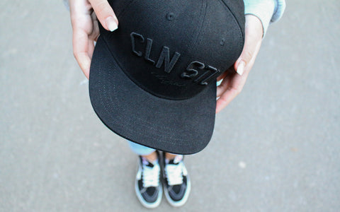 Murdered out Snapback - Black on Black