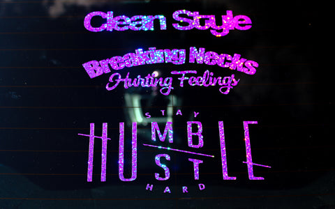 Stay Humble Hustle Hard Sticker