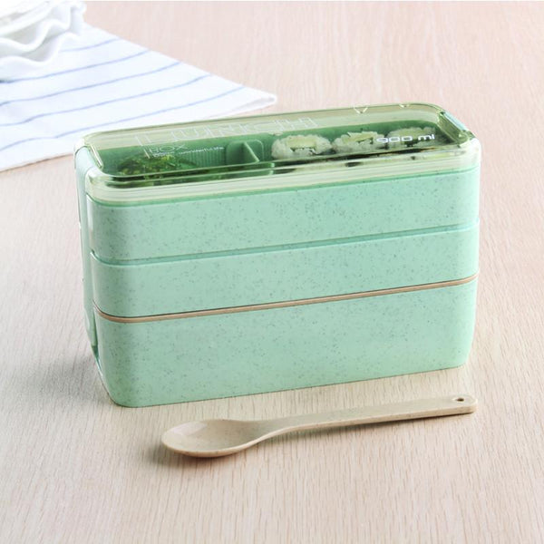 3 Layer Lunchbox with Spoon