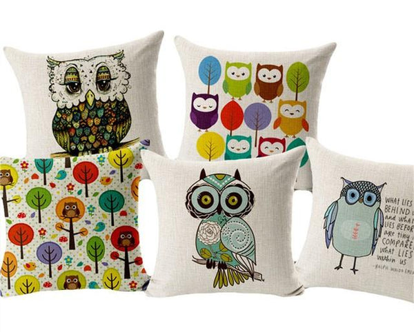 Owls Decor Throw Pillow