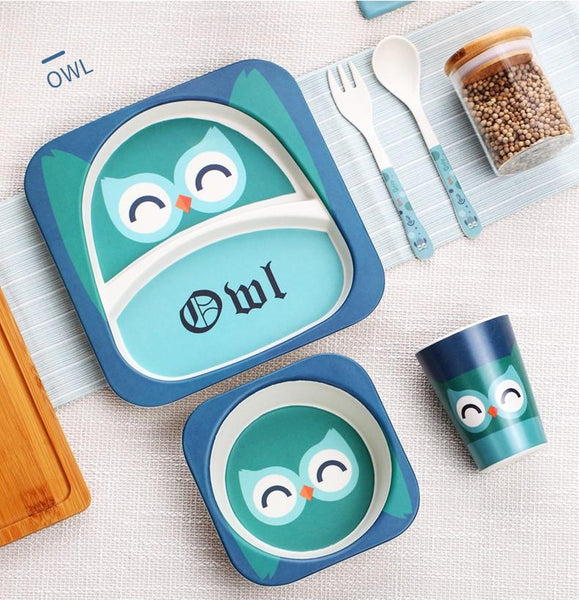 Cute Animals Kids Dinnerware Set